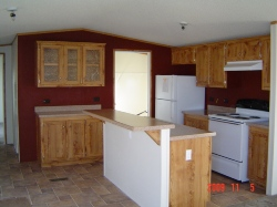 Interior of sample home at Westfork Mobile Home Park